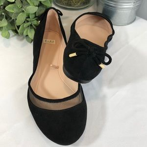 Zara Trafaluc Ballet Flat with Bows on Heels